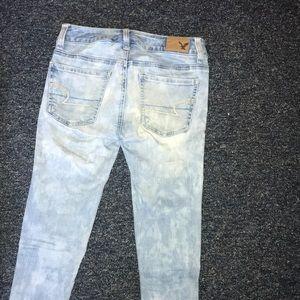 American eagle light acid wash jeans